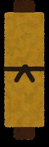 茶色い巻物のイラスト