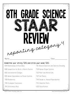 Science Teaching Junkie, Inc.: 8th grade Science STAAR Review