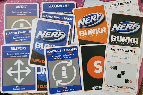 Nerf BUNKR game play cards