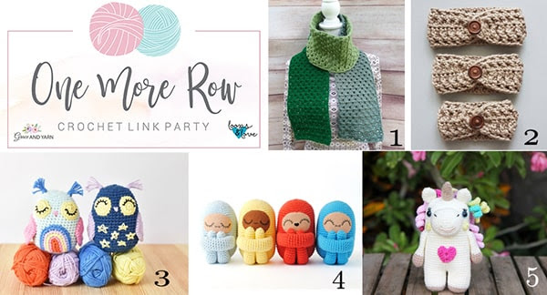 One More Row - Free Crochet Link Party #23