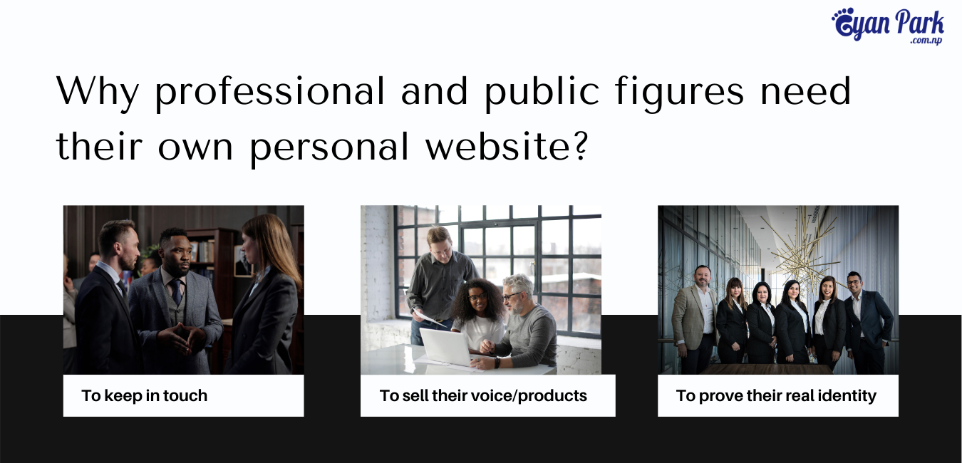 Reasons for necessity of Website for Professional and Public figures.