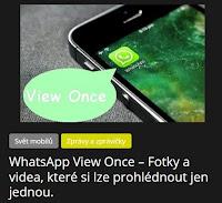 WhatsApp View Once – Fotky a videa, které si lze prohlédnout jen jednou. - AzaNoviny