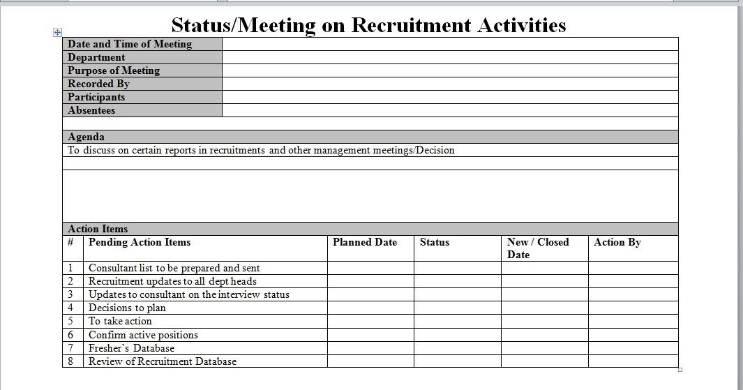 Recruitment Process Report