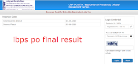 IBPS PO 2019-2020 Final Result Declared: Check Here