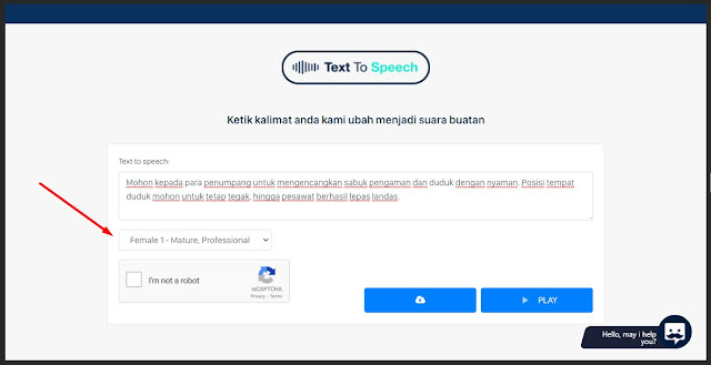 tools text to speech botika