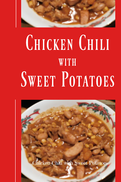 Chicken Chili with Sweet Potatoes pin