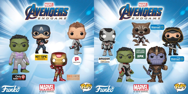 ddda1960 Avengers Endgame Retailer Exclusive Pop! Marvel Vinyl Figures by Funko