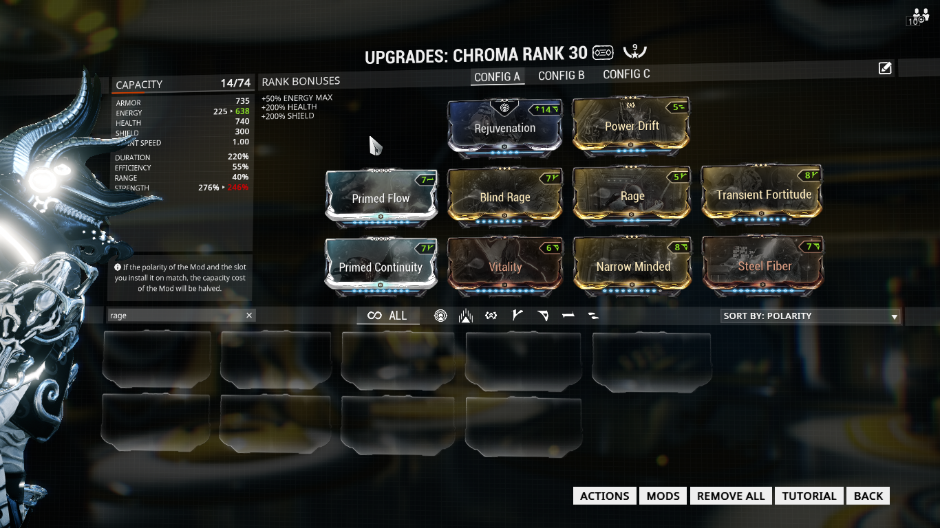 The Best Chroma Build In Warframe Overkill Chroma Build Grind