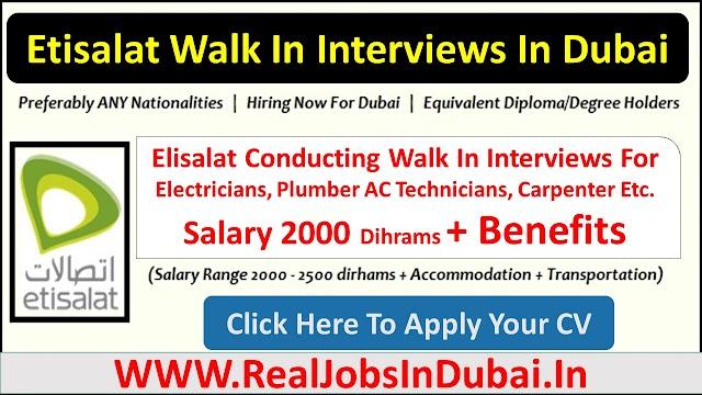 Etisalat Careers Jobs Position Availale In Dubai - UAE