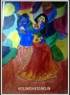 holi drawings for kids of 14 years
