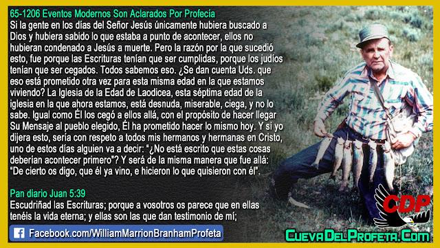 Él los cegó con el propósito de hacer llegar Su Mensaje - William Branham en Español