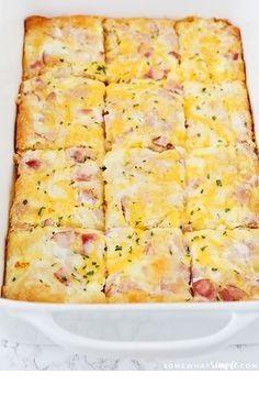 Croissant Omelet Breakfast Casserole