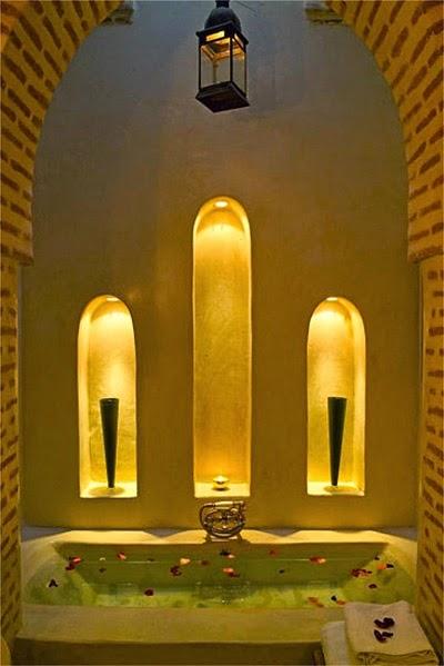 cuarto de baño marroquí