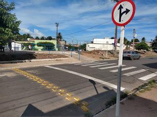 Em Sapé PB SMTRANS inicia sililação com faixas de pedestres no perímetro urbano.