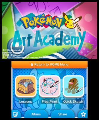 Pokémon Art Academy Menu