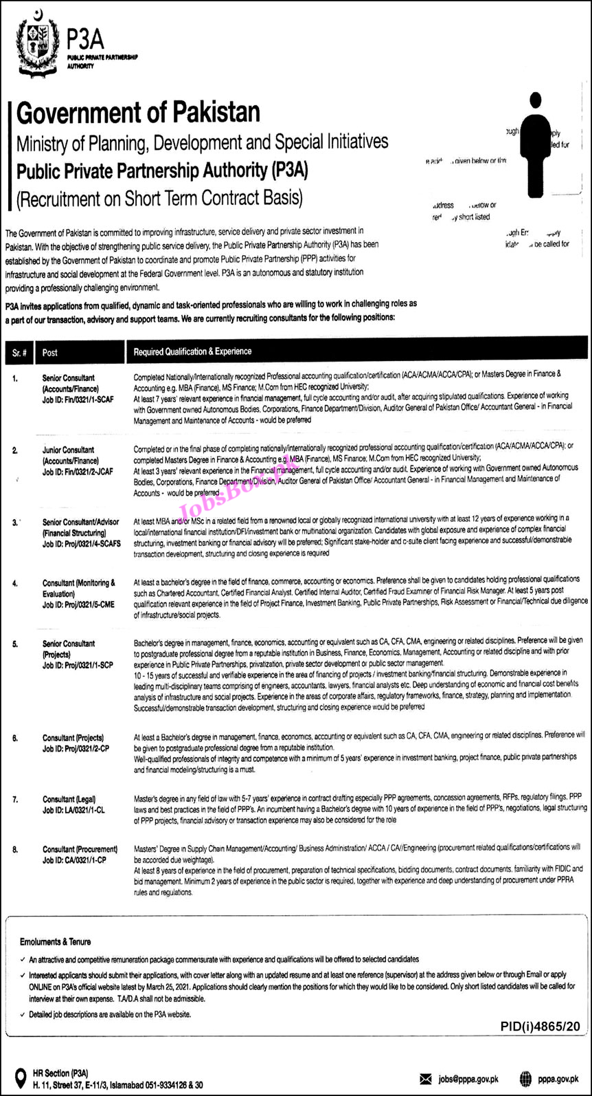 Public Private Partnership Authority Jobs 2021