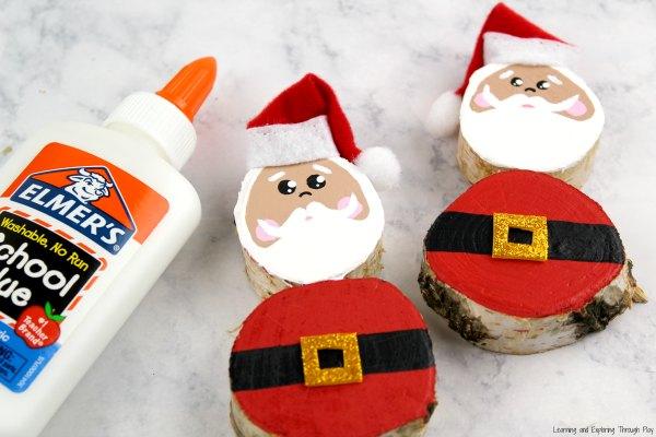 Santa Wood Slice Craft