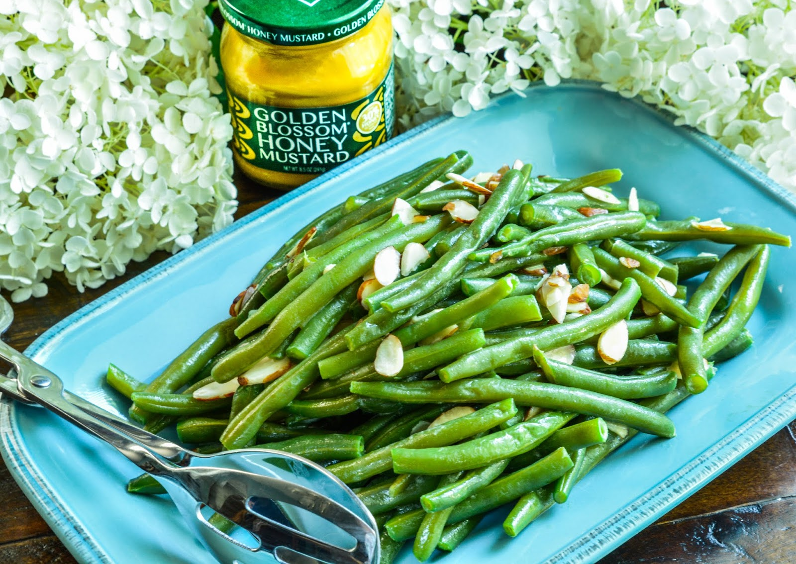 Honey Mustard Almond Green Beans