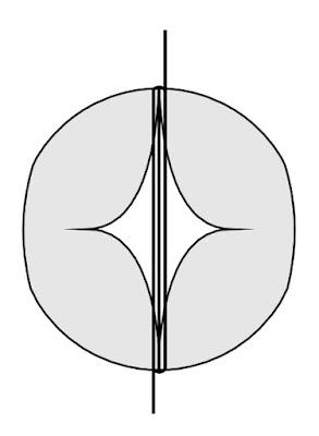 Схема цветка бутона из ШДМ