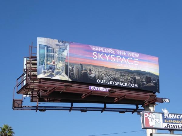 OUE Skyspace LA billboard