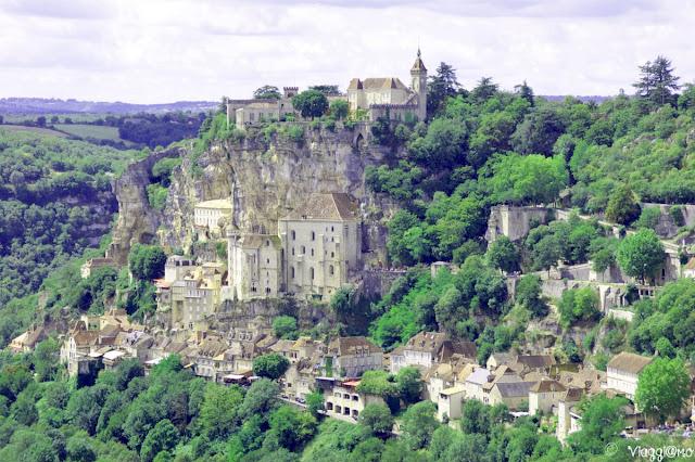 La splendida vista sul Borgo arroccato di Rocamadour