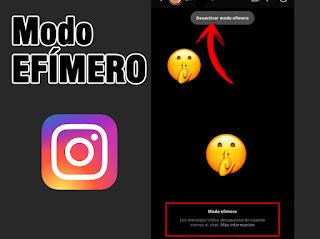 MODO EFÍMERO en Instagram