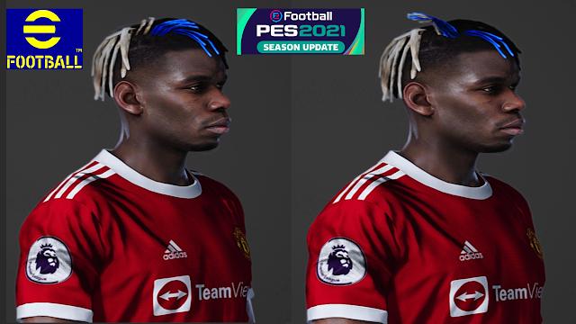 تحميل وجه بوغبا Pogba New hairstyle لبيس PES 2021 🔥✅😍