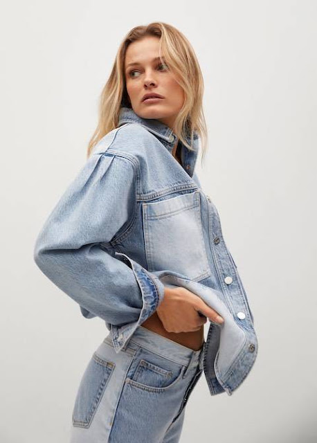 Mango Denim Patchwork Jacket