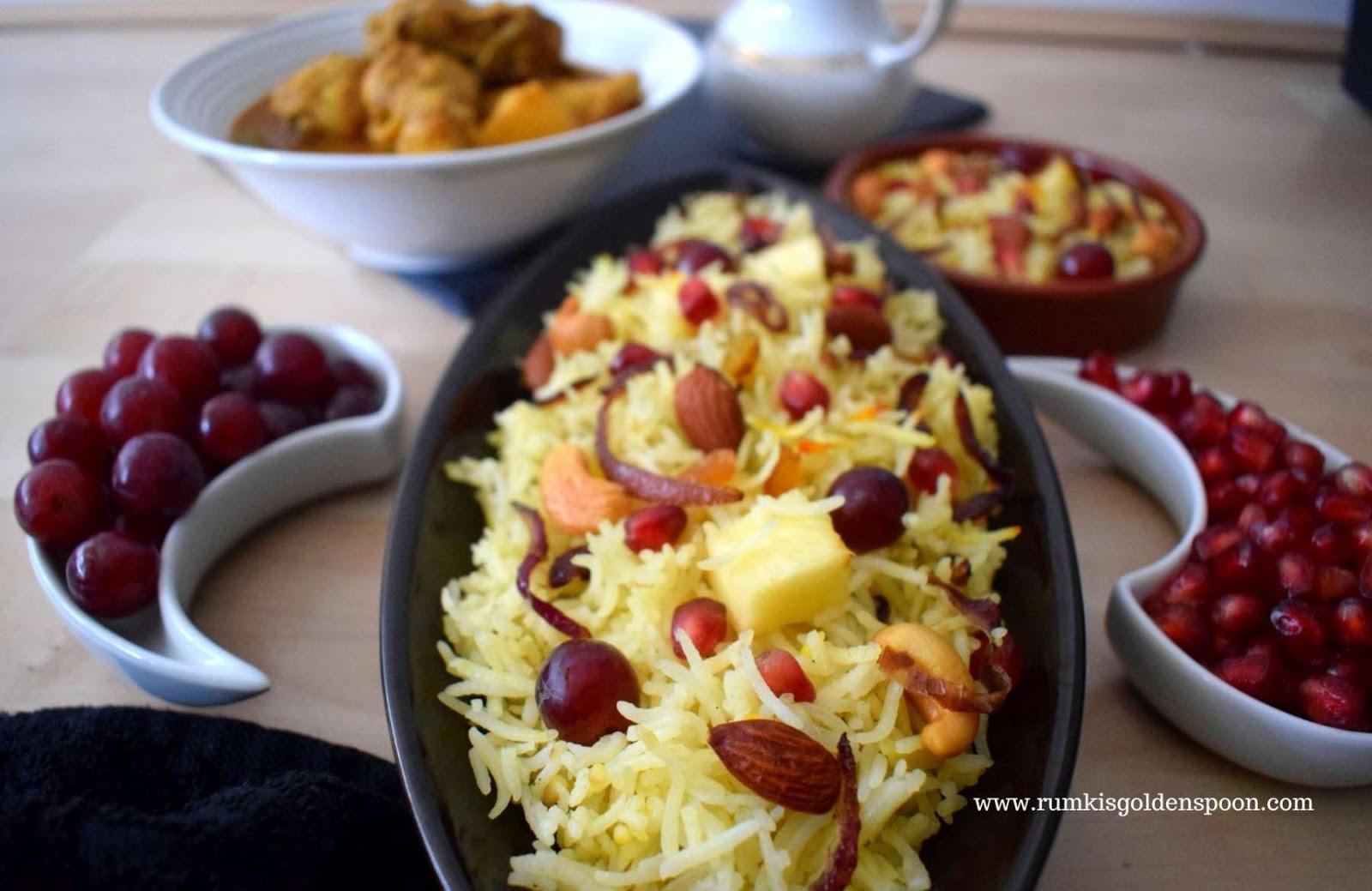 kashmiri pulao, recipe for kashmiri pulao, kashmiri pulao recipe, how to make kashmiri pulao, kashmiri recipe, kashmiri food, pulao recipe, rice pilaf recipe easy, Rumki's Golden Spoon