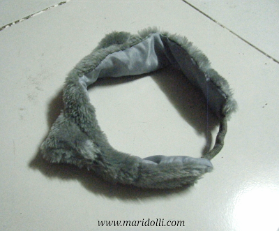 Cat ears headband, fur