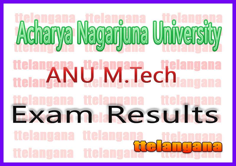 Acharya Nagarjuna University ANU M.Tech Exam Results