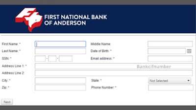 Enroll on First National Bank of Anderson