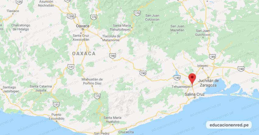 Temblor en México de Magnitud 4.2 (Hoy Lunes 8 Abril 2019) Sismo - Epicentro - Santo Domingo Tehuantepec - Oaxaca - SSN - www.ssn.unam.mx