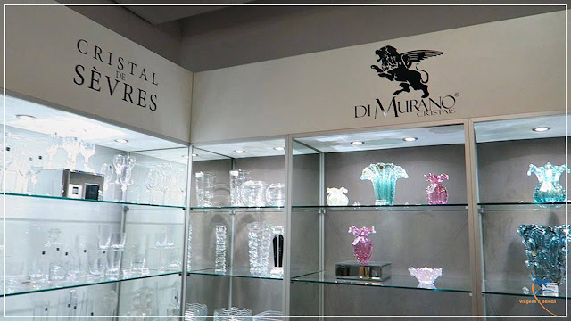 Cristais e objetos para casa no 3º andar da Monalisa