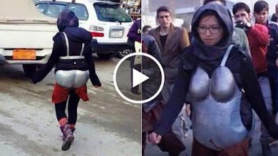بهذه الطريقة استطاعت فتاة أفغانية حماية نفسها من التحرش ! ما تعليقكم !! شاهد الفيديو !