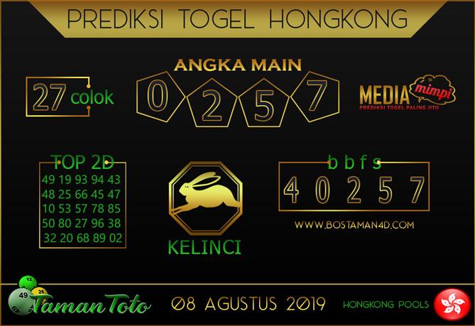 Prediksi Togel HONGKONG TAMAN TOTO 08 AGUSTUS 2019