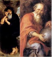 Resultado de imagen de Heráclito Demócrito