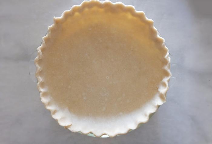pie dough formed in pie dish
