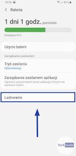 Samsung Ustawienia Bateria