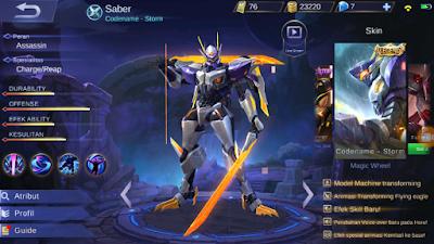 Script Skin Legend Saber Mobile Legends