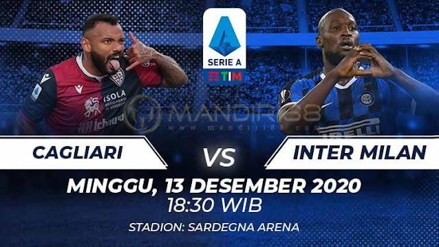 Prediksi Cagliari Vs Inter Milan, Minggu 13 Desember 2020 Pukul 18.30 WIB @ RCTI