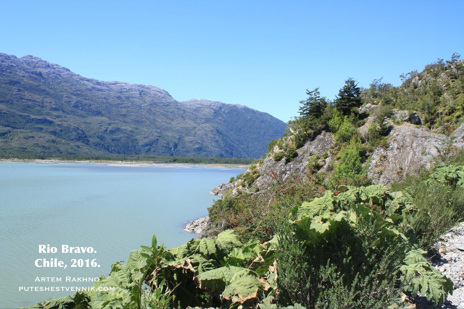 Река на юге Чили по дороге в Виллу О Хиггинс