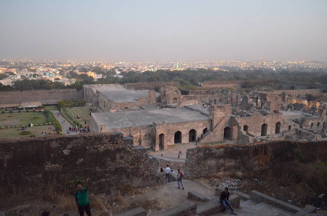 Panoramic View of Hyderabad city from Golconda Fort