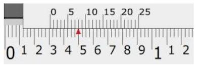 cara membaca jangka sorong skala 1/1000