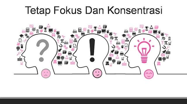 Memotivasi diri dalam bekerja dengan tetap fokus dan konsentrasi
