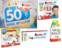 Logo ''Kinder 50 anni - Esprimi un desiderio e Kinder lo realizza''