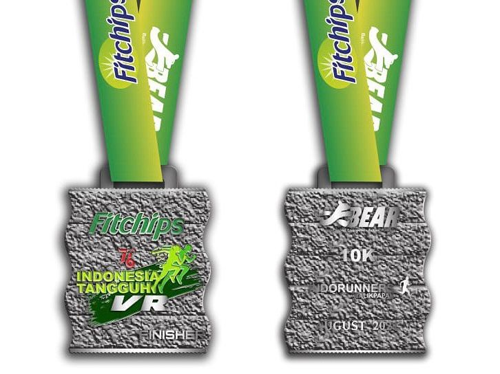 Medali � Indonesia Tangguh Fitchips Virtual Run • 2021