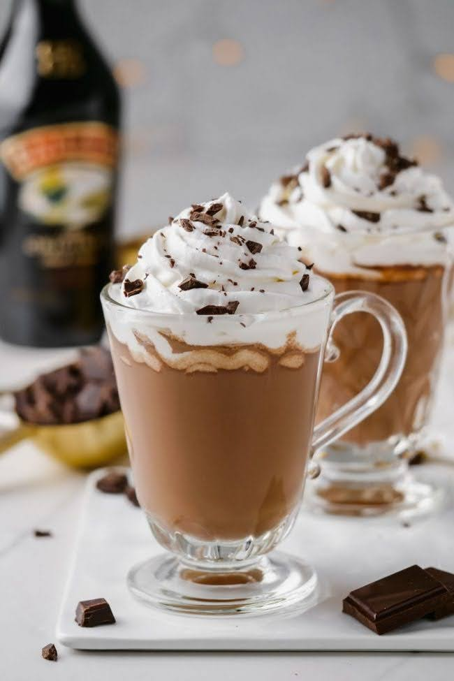 Bailey's Hot Chocolate | Photo Courtesy of Texanerin Baking