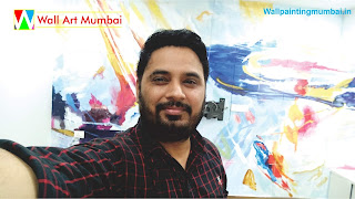Abstract Wall Mural For your Home | Abstract Wall Painting | Wall Painting Mumbai