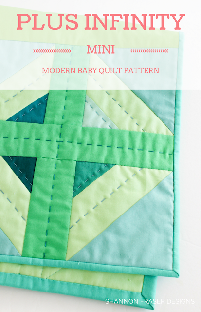 Plus Infinity Mini Quilt | RJR Fabrics | Q1 2018 Finish-A-Long Quilt Projects | Shannon Fraser Designs | Modern Quilting | WIP | Quilt Patterns